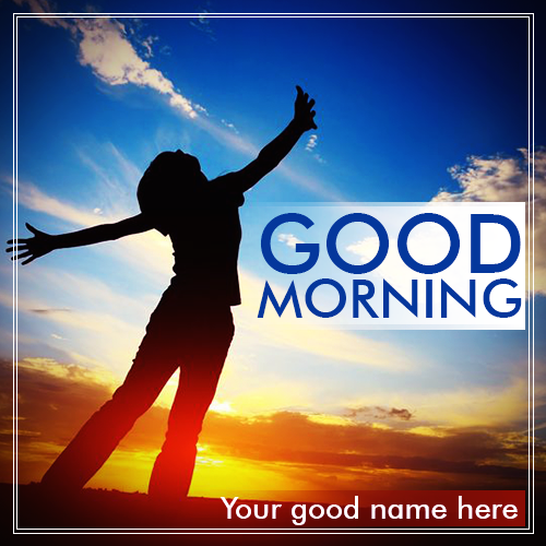 Write Name On Good Morning Nature Image