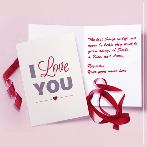 I Love You Wishes Quotes Images With Name Edit