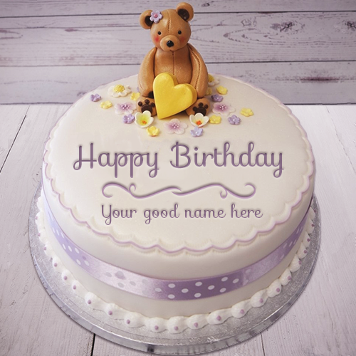 Birthday Cake Teddy Bear With Name