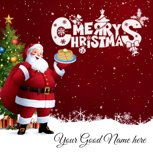 Write Name On Merry Christmas Images Card