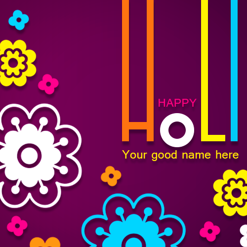 Write Name On Happy Holi 2019