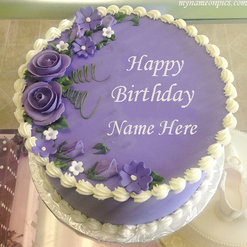 Happy Birthday Ice Cream Cake With Name
