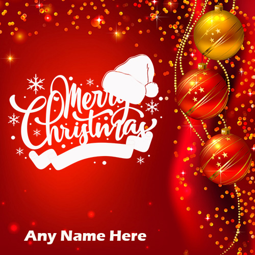 Write Name ON Merry Christmas Pics and Wishes