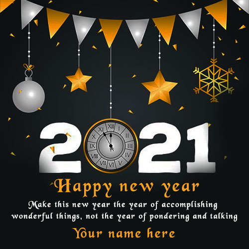 Happy New Year 2021 Wishes Quote Image With Name