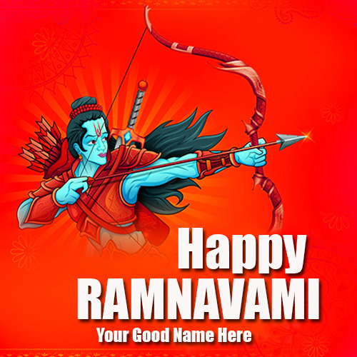 Write Name On Happy Ram Navami Wishes Images With Name