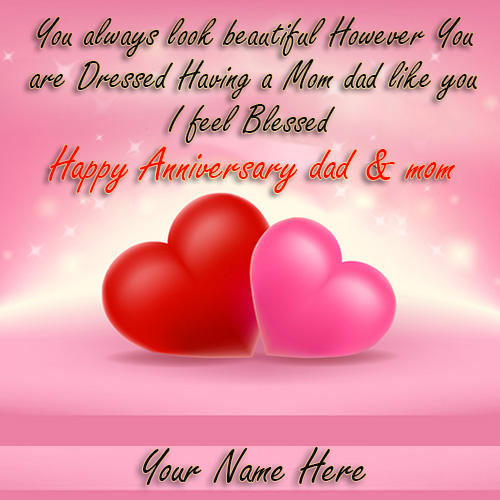 Happy Wedding Anniversary Mom and Dad Images With Name