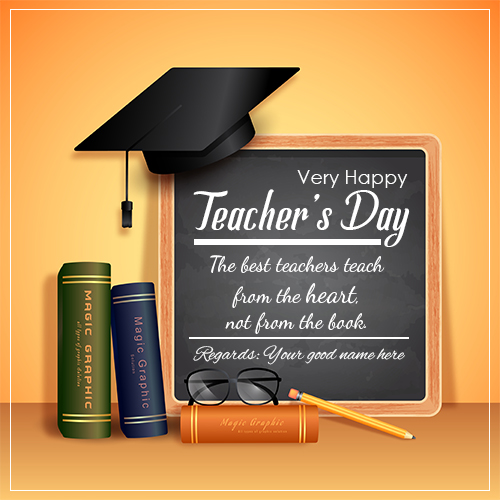 Happy Teacher Day Wishes Quotes Image With Name