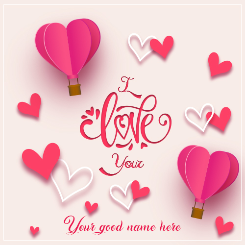 Write name on little i love you pic