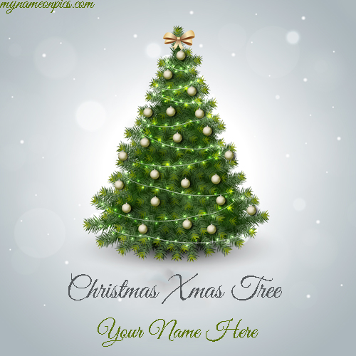 Write Name On Christmas Xmas Tree 2018