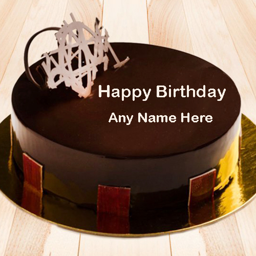 Write Name on Chocolate Birthday Cake Pics