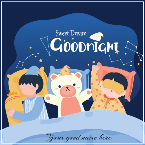 Good Night Children Photo With Your Name