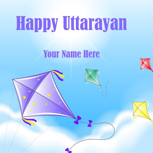 Write Name On Happy Uttarayan 2019