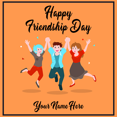Happy Friendship Day Wishes Image With Name