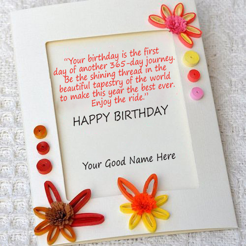 Happy Birthday Quotes Wishes Card With Name