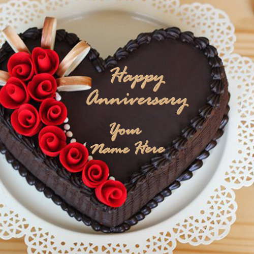 Wedding Anniversary Chocolate Cake Images