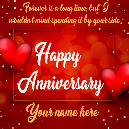 Happy Love Anniversary Card With Name